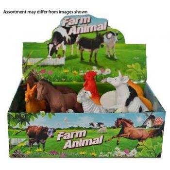12pce Farm Animals assorted ( ONLY SOLD in display of 12 )