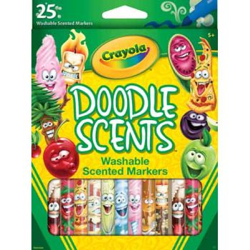 Crayola 25 Doodle Scents Markers