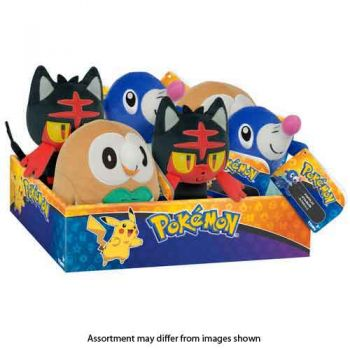 Pokemon 20cm Basic Plush assorted Sun & Moon Characters ( ONLY SOLD in display of 6 )