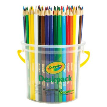 Crayola 48 Triangular Coloured Pencil Deskpack 12 colours