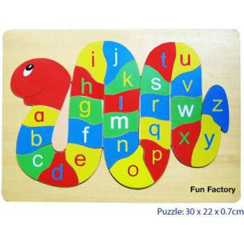 Fun Factory Wooden Puzzle Alphabet Snake
