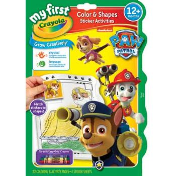 Crayola My First Colour & Activity Book - Paw Patrol