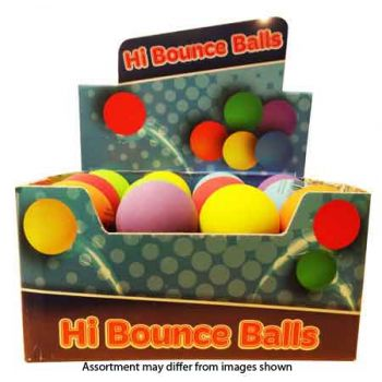 Hi Bounce Hand Ball assorted ( ONLY SOLD as a display of 24)