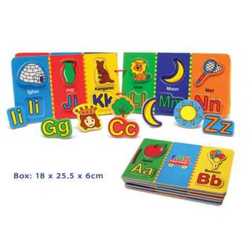 Fun Factory Wooden Magnetic Alphabet Book