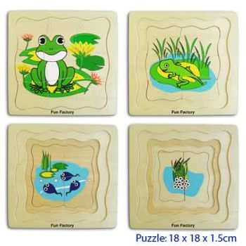Fun Factory Wooden Puzzle Layer Puzzle - Frog