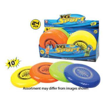 """10"""" Frisbee assorted ( ONLY SOLD in display of 24 )"""
