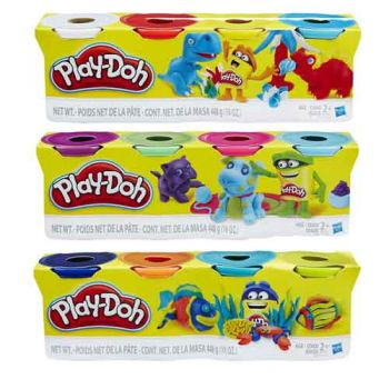 Play Doh 4 Pack assorted