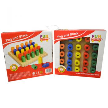 Fun Factory Wooden Peg & Stack Board