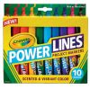 Crayola 10 Powerlines Project markers