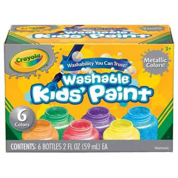 Crayola 6 Washable Metallic Paint