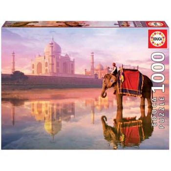 Educa 1000pce Puzzle - Elephant at Taj Mahal