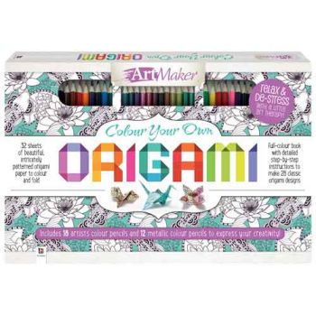 Colour Your Own Origami 30 pencil kit