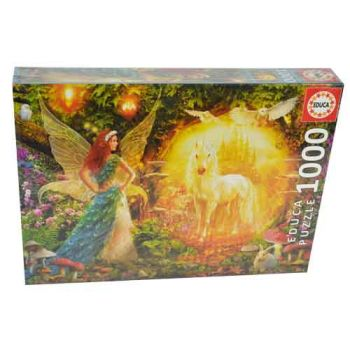 Educa 1000pce Puzzle - Peacock Feathery Fairy