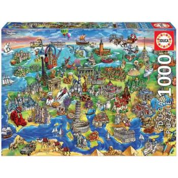 Educa 1000pce Puzzle - European World