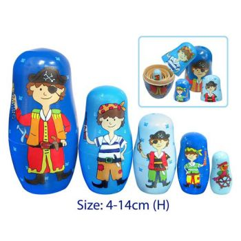 Fun Factory Nesting Dolls 5pc Pirate