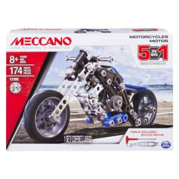 Meccano Multi-Model 5 Set - Motorcycle ( was RRP $34.99 )