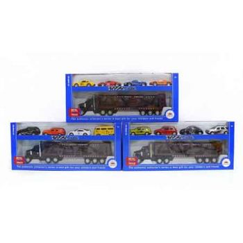 Car Carrier with 4 Diecast Cars