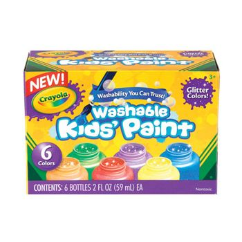 Crayola Washable Glitter Paint 6 Pack