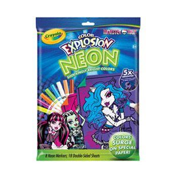 Crayola Neon Color Explosion Disney Monster High