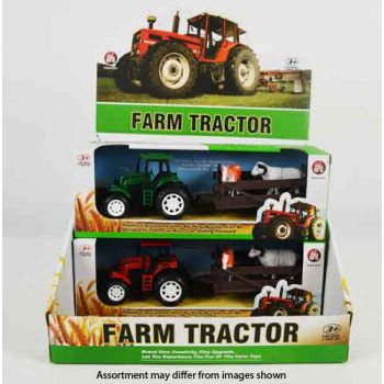 Farm Tractor with Trailer & Animals assorted