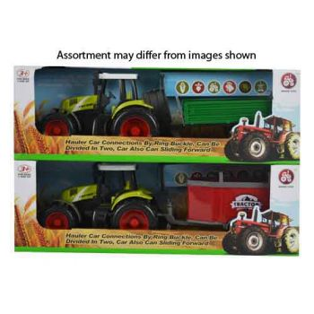 Farm Tractor with Trailer assorted