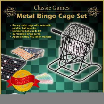 Shuffle Classic Metal Cage Bingo Game