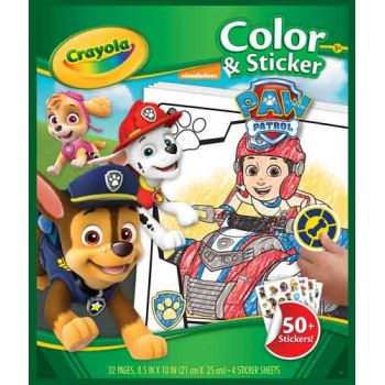Crayola Color 'n Sticker Book - Paw Patrol