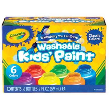 Crayola 6Ct Washable Classic Paint