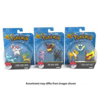 Pokemon Action Figure Eevee 3 pack assorted