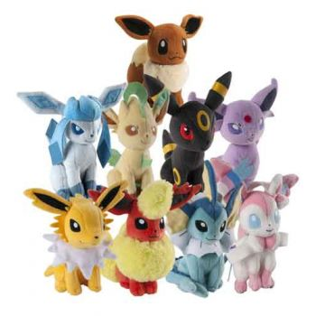 Pokemon 20cm Plush - Eevee ( ONLY SOLD in display of 9 )