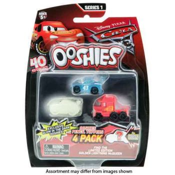 Ooshies Disney Cars 3 4 pack assorted