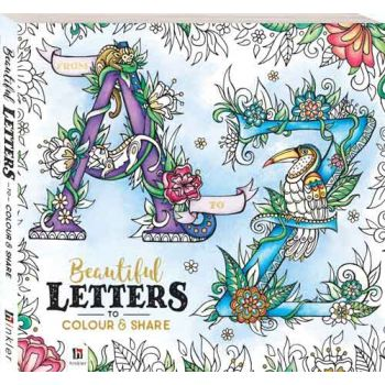 Adult Colouring Book Beautiful Letters