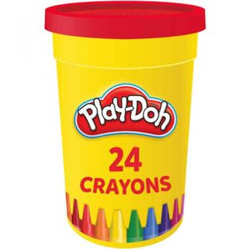 Play-Doh 24pk Crayons in Tub ( ONLY SOLD in display of 24 )