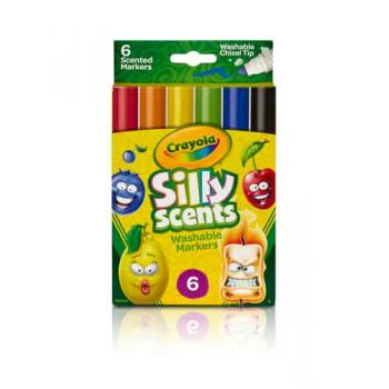 Crayola Silly Scents 6pk Chisel Tip Markers