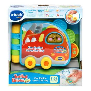 VTech Toot Toot Drivers Fire Engine Savs the Day Book
