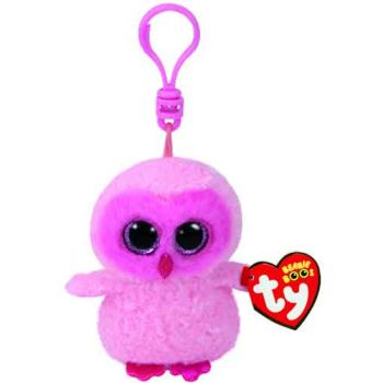 Ty Beanie Boos Clips - Twiggy Pink Owl