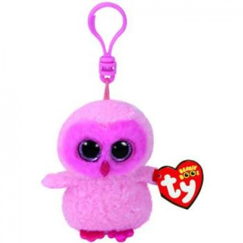 Ty Beanie Boos Clips - Twiggy Pink Owl - All Brands Toys Pty Ltd 21be73eaa12c