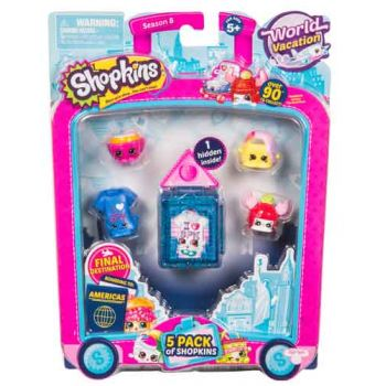 Shopkins Series 8 Wave 3 USA 5 pack assorted