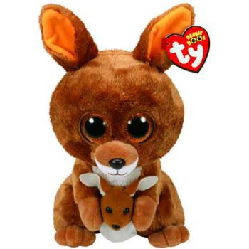 Ty Beanie Boos Medium - Kipper Brown Kangaroo