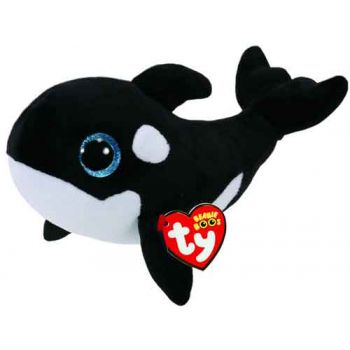 Ty Beanie Boos Regular - Nona Black Whale ( was RRP $9.99 )
