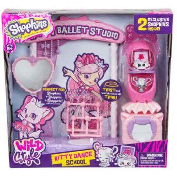 Shopkins Wild Style Playset - Kitty Dance School
