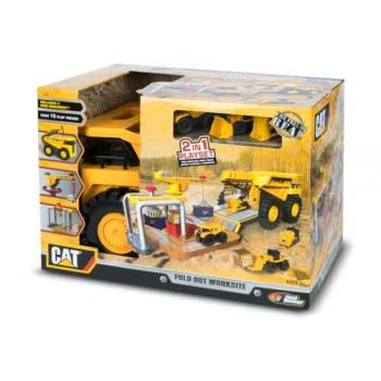 CAT Construction Zone Fold Out Dump Truck Playset