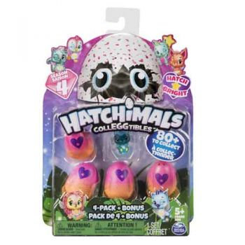 Hatchimals Colleggtibles Series 4 - 4pk with Bonus