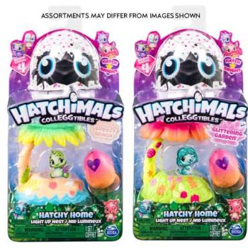 Hatchimals Colleggtibles Series 4 Hatchy Homes Light Up assorted