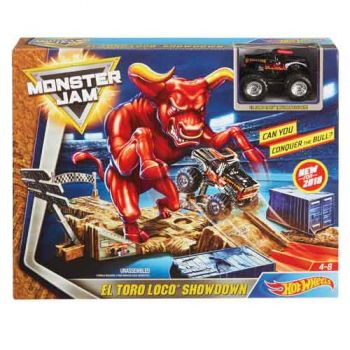 Hot Wheels Monster Jam El Toro Loco Showdown Playset