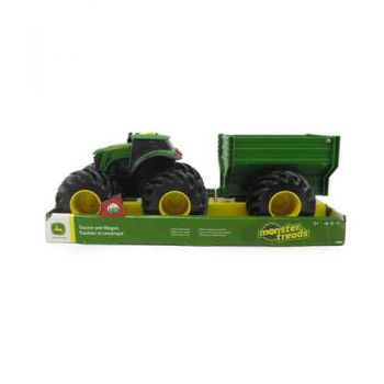 John Deere Monster Treads Tractor with Wagon & Lights and Sounds