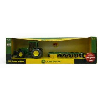 John Deere 20cm 7420 Tractor with Blade & 6 Bottom Plow