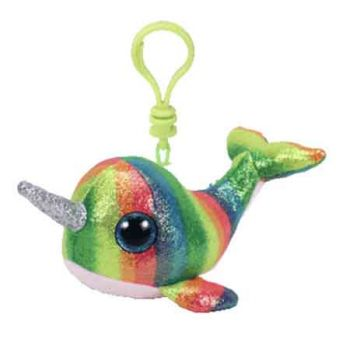 Ty Beanie Boos Clips - Nori the Rainbow Narwhal
