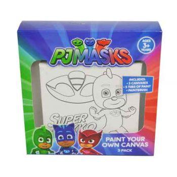 PJ Masks Paint Your Own Canvas 3 pack