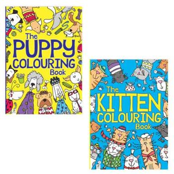 Puppy & Kitten Colouring Books assorted